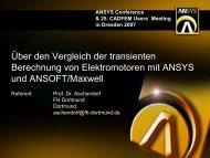 Fazit der Berechnung mit ANSYS - Fachhochschule Dortmund
