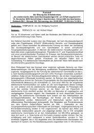 """Protokoll der Sitzung des Arbeitskreises """"die ... - EDV-Gerichtstag"""