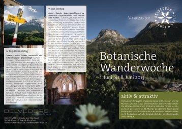 Botanische Wanderwoche - Hotel Belvédère Scuol