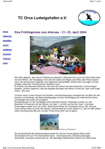 TCO Attersee 2004 - TC Orca