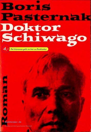 Pasternak Doktor Schiwago
