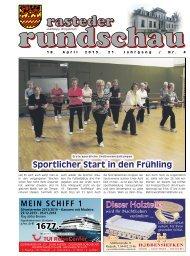 rasteder rundschau, Ausgabe April 2013
