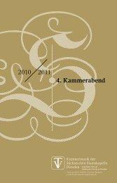 2010 2011 4. Kammerabend - Staatskapelle Dresden