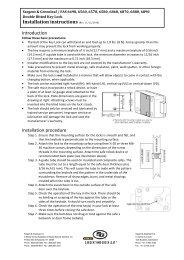 Installation instructions - Sargent and Greenleaf