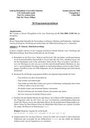 Blatt 2 - Medieninformatik - Ludwig-Maximilians-Universität München