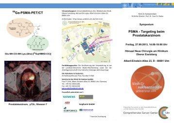 Ga-PSMA-PET/CT PSMA - Targeting beim Prostatakarzinom