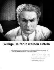 Willige Helfer in weißen Kitteln - Hinterland Magazin