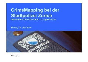 Crime Mapping bei der Stadtpolizei Zürich