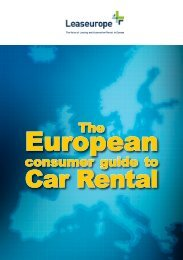 The European Consumer Guide to Car Rental - FLLV
