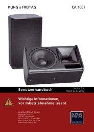 K_F_CA1001_Bedienung.pdf - SINUS Event-Technik GmbH