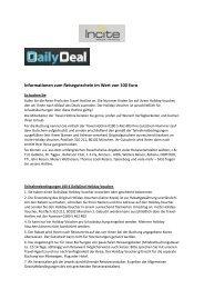 Informationen zum Reisegutschein im Wert von 100 Euro - DailyDeal