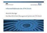 Einblick in Absolute Manage - ITEK - ETH Zürich