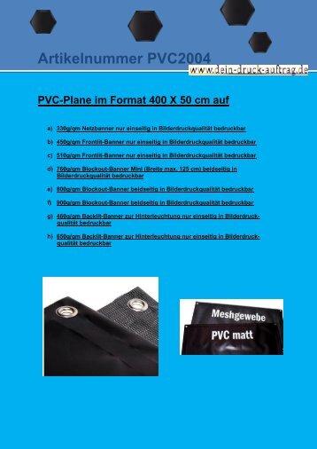 Artikelnummer PVC2004 - dein-druck-auftrag