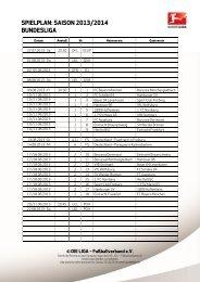 Spielplan 2013/2014 - Bundesliga