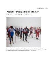 Packende Duelle auf dem Thurner - Skiclub Hinterzarten