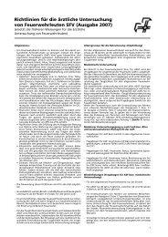 Richtlinien für die ärztliche Untersuchung - Feuerwehr Krauchthal