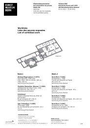 Werkliste Russische Kunst (pdf) - Kunstmuseum Bern