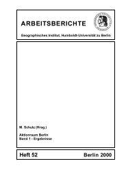 A R B E I T S B E R I C H T E - Geographisches Institut - Humboldt ...