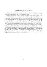 MATH104a Module Notes