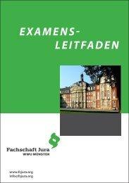 Examenleitfaden SS 2013.indd - Fachschaft Jura der Uni Münster