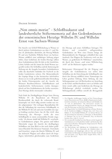 """""""Non omnis moriar"""" - Schloßbaukunst und landesherrliche ..."""