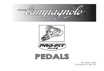 Pro-Fit PLUS Pedale Bedienungs-Anleitung - Campagnolo