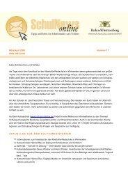 SchulNews online 17, März/April 2009 - Ministerium für Kultus ...