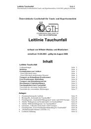 Leitlinie Tauchunfall - Dr.med. Clemens Mader