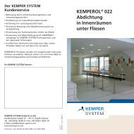 KEMPEROL® 022 Abdichtung - KEMPER SYSTEM
