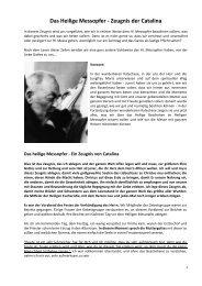 Das Heilige Messopfer - Zeugnis der Catalina - Gottes Warnung