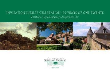 invitation jubilee celebration: 25 years of gne twente - Genootschap ...