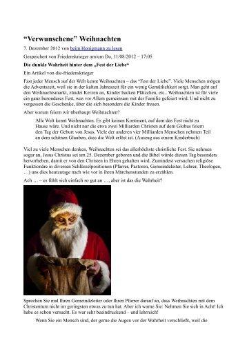 """Die dunkle Wahrheit hinter dem """"Fest der Liebe"""" - Terra - Germania"""