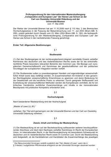 Prüfungsordnung für den internationalen Masterstudiengang ...