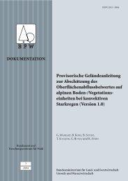 Provisorische Geländeanleitung zur Abschätzung des ... - BFW