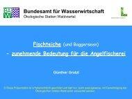 zunehmende Bedeutung für die Angelfischerei/Günther Gratzl