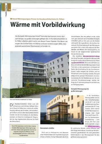 Referenz Hoval - Wärmepumpe Austria