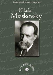 Catalogue Miaskovsky - Le Chant Du Monde