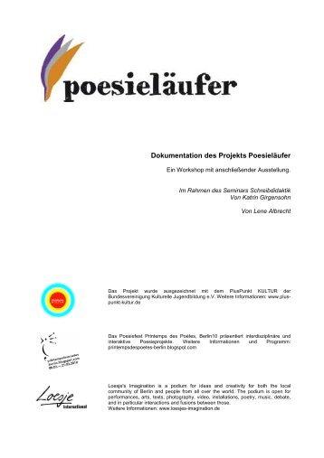 Dokumentation des Projekts Poesieläufer