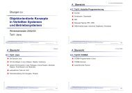 Objektorientierte Konzepte in Verteilten Systemen und ...