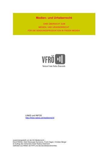 Medien- und Urheberrecht - Verband Freier Radios Österreich