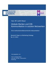 Globale Marken und CSR- Kommunikation in sozialen Netzwerken