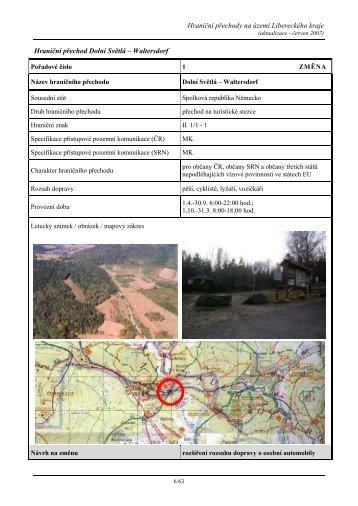 Hraniční přechody na území Libereckého kraje ... - Liberecký kraj