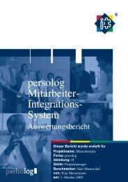 Muster Auswertungs-bericht - PM Ritter GmbH