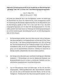 Allgemeine Verwaltungsvorschrift für die Erteilung ... - Eifert-geerts.de