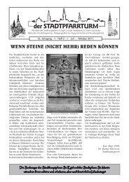 der STADTPFARRTURM - St. Egid Klagenfurt