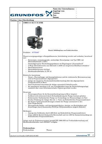 CMBE 5-3 Technische Daten