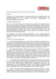 Besondere Standesregeln für Immobilienmakler (Stand 12.6.2003 ...