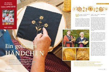 Lesen Sie den ausführlichen Bericht im Magazin ... - Goldstickerei