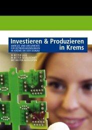 Broschüre: Investieren & Produzieren in Krems - Wirtschaftsstandort ...