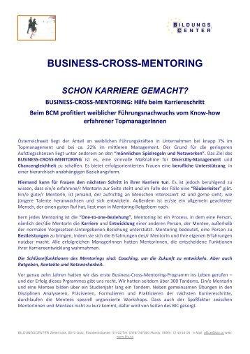 BUSINESS-CROSS-MENTORING: Hilfe beim Karriereschritt ... - BIC